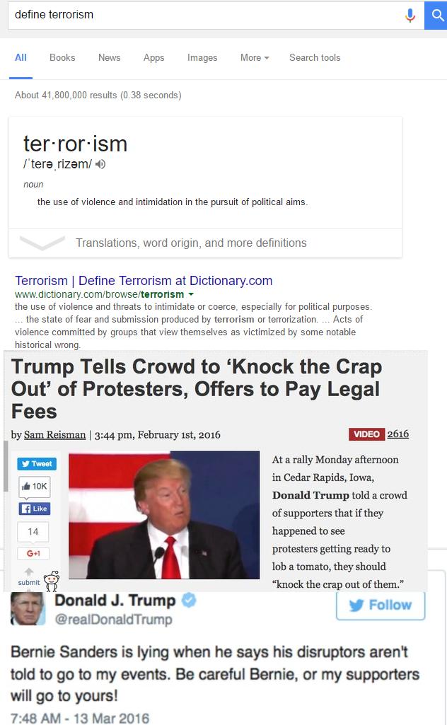 hmm But hes White.. trump terrorism Politics