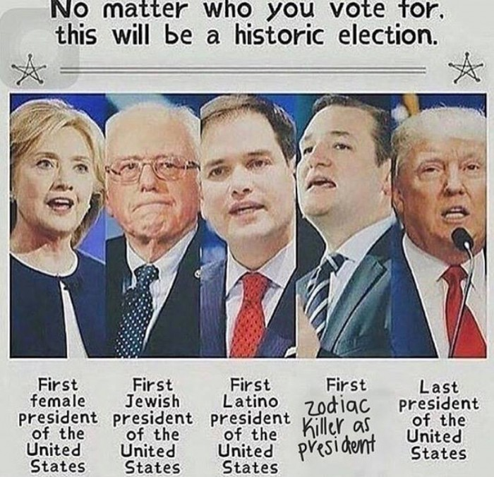 no matter who you vote for, this will be a historic election.jpg