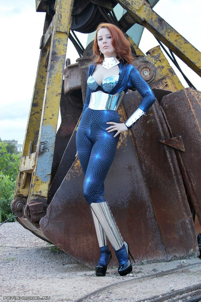 shiney woman by construction equipment.jpeg