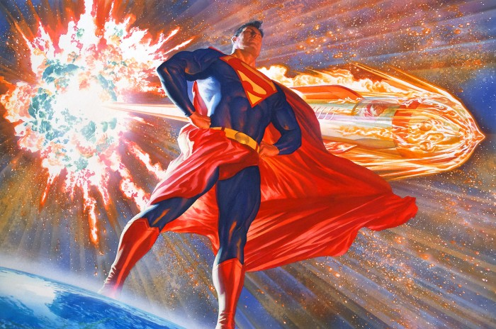 superman stands by his exploding star 700x464 superman stands by his exploding star