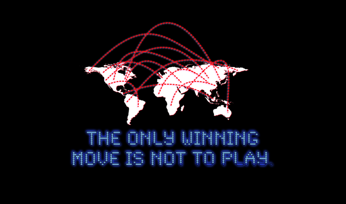 the only winning move is not to play 700x414 the only winning move is not to play War Games Wallpaper Movies Gaming