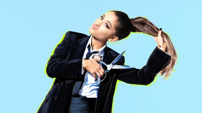 Ariana Grande cutting her hair.jpg