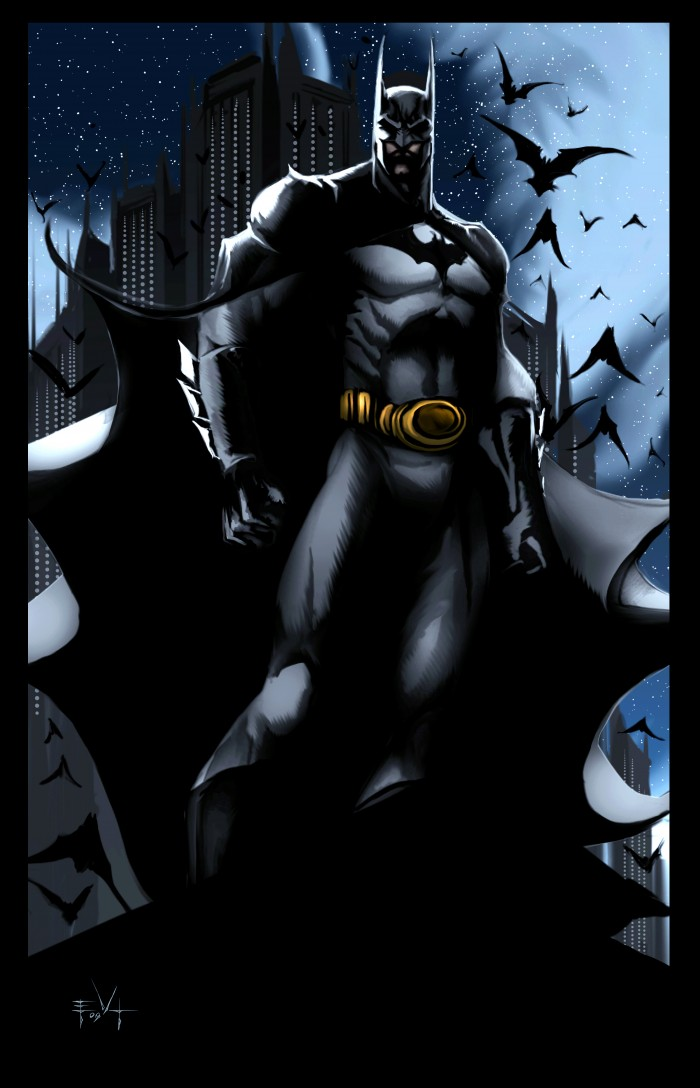 Batman on roof 700x1088 Batman on roof