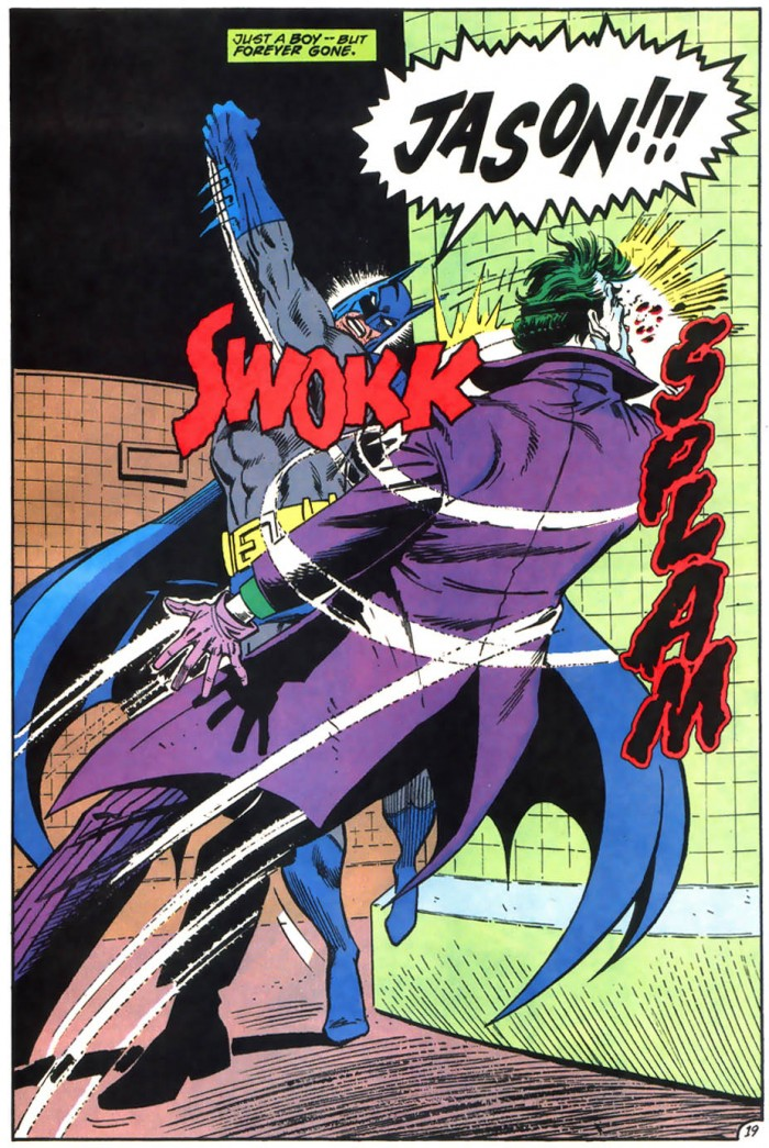 Batman punches joker while yelling JASON 700x1045 Batman punches joker while yelling JASON