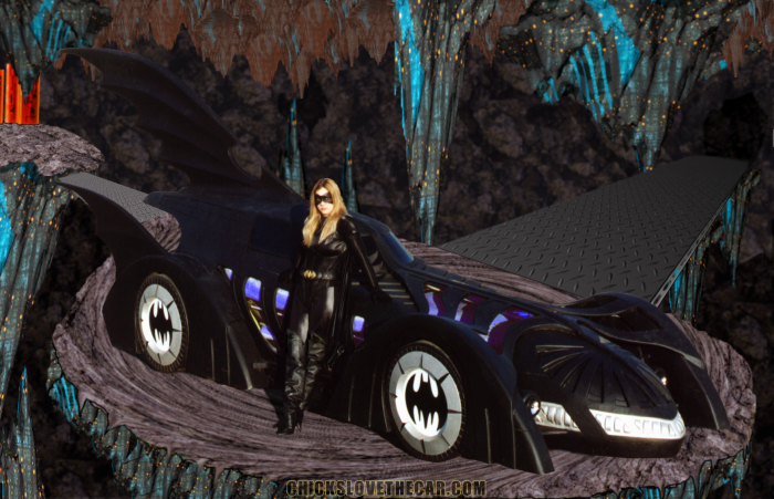 Batmobile with sexy girl 700x451 Batmobile with sexy girl