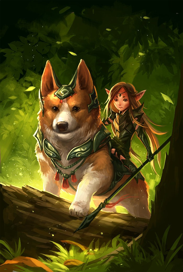 Corgi and fairy by sandara