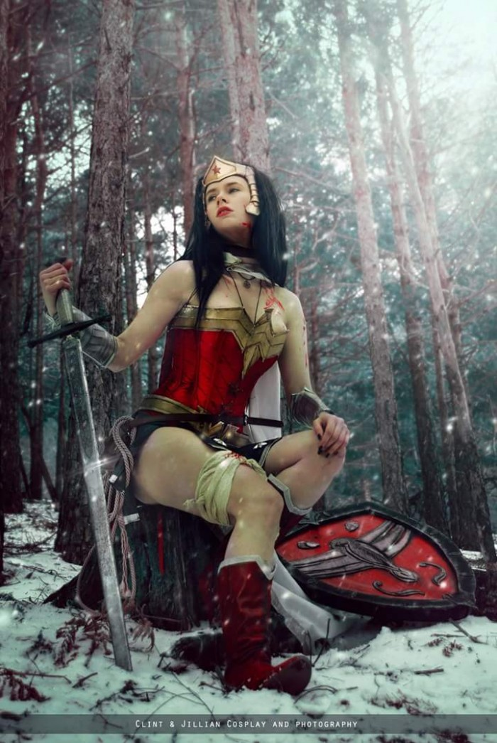 Wonder woman cosplayer with sword and shield.jpg