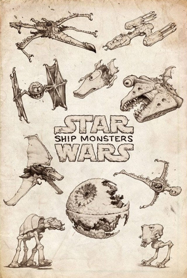 artist-reimagines-star-wars-ships-as-giant-monsters