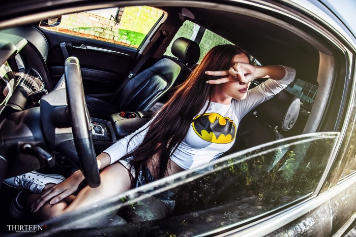 batgirl in a car 700x467 batgirl in a car