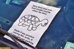 many three year olds have trouble staying within the lines maybe if you practice coloring this turtle it will help with your par 150x100 novelty business cards