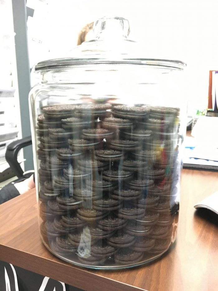 stacked oreo jar