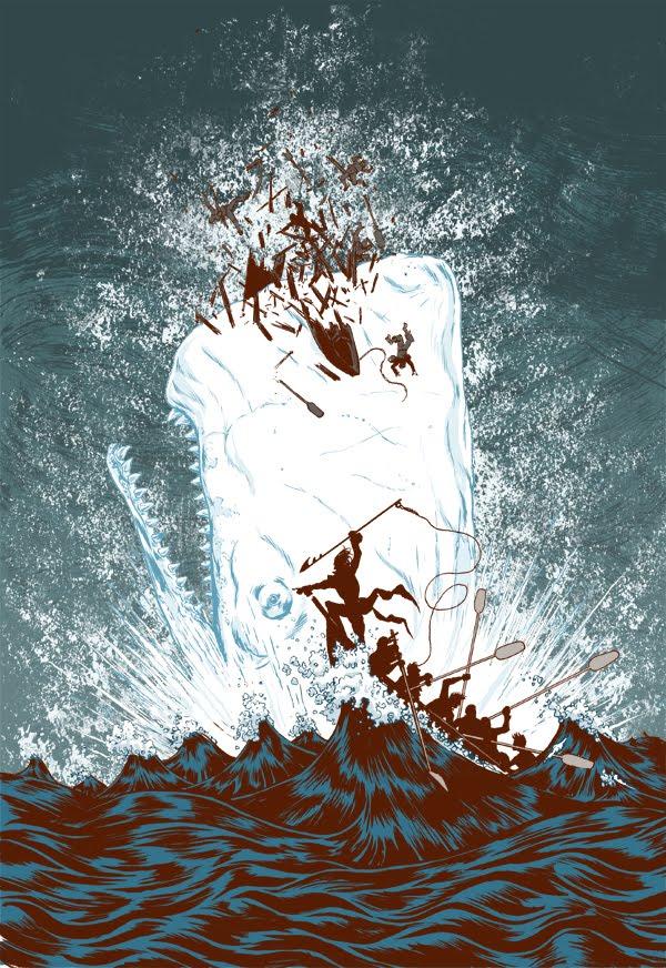 tumblr lvu8hilXE41r7fla5o1 1280 Moby Dick moby dick illustration design Art