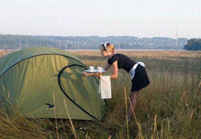 Camping Room Service 700x485 Camping Room Service room service Humor