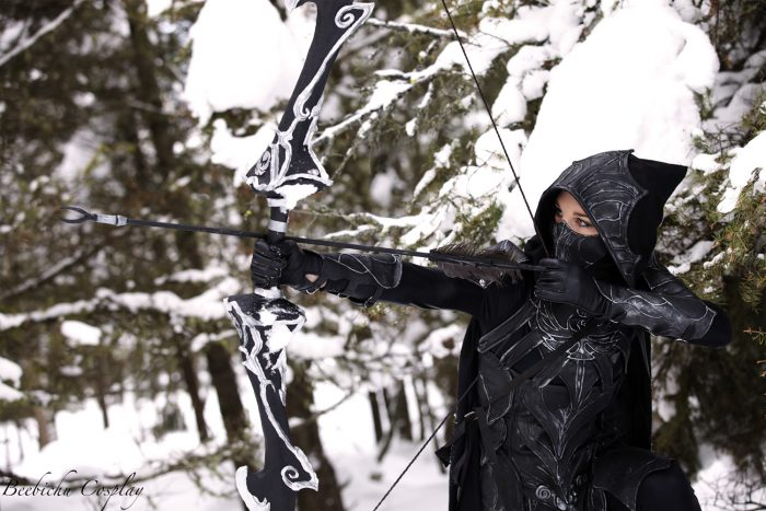 Dragonage Archer Cosplay in the snow.jpg