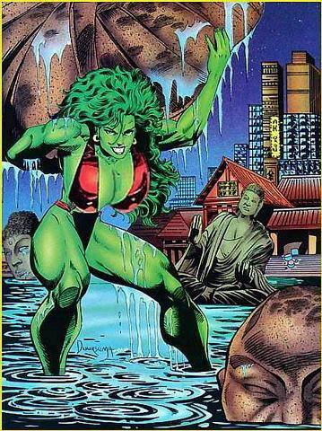 She Hulk Lifting a wet rock.jpg