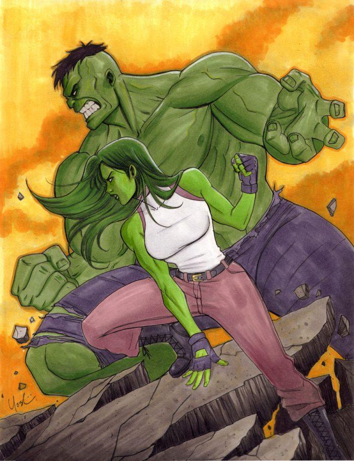 She Hulk and the HULK are flexed.jpg