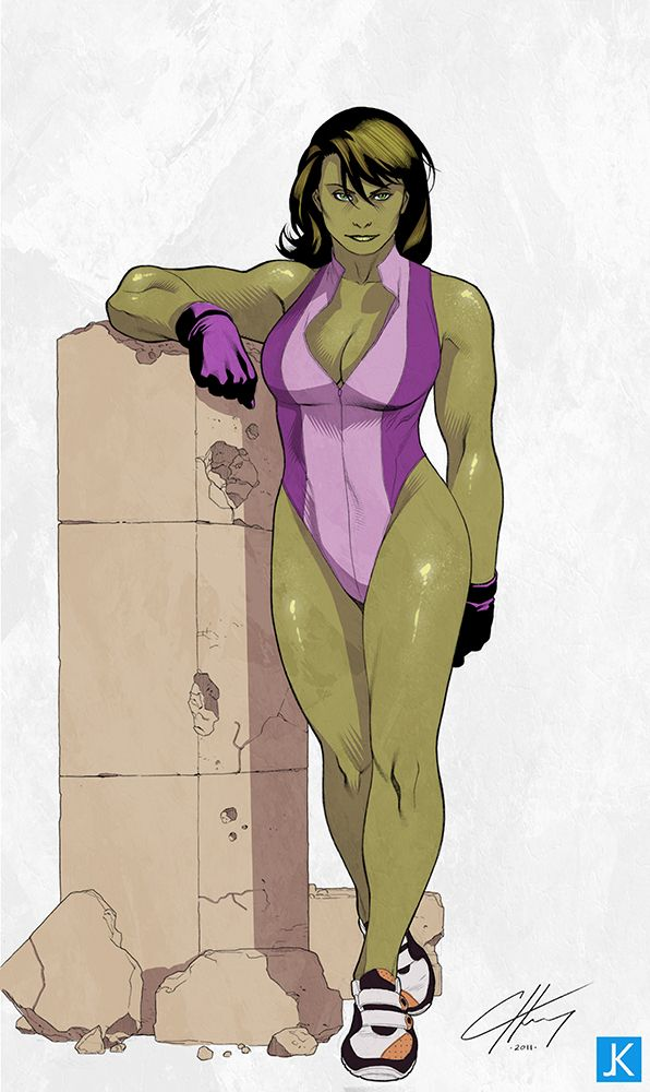 She Hulk rests her arm on a pillar.jpg