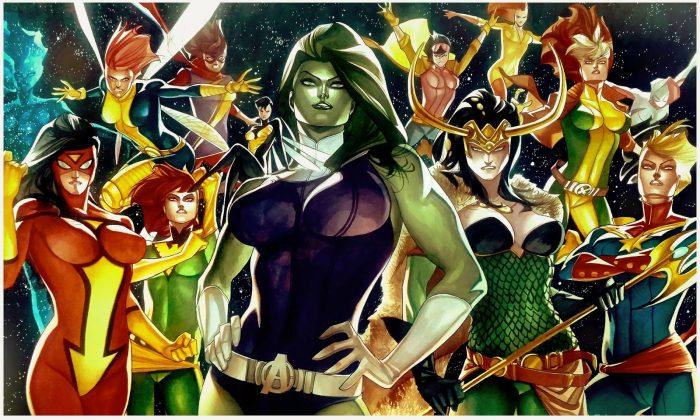 She Hulk with female heroes.jpg