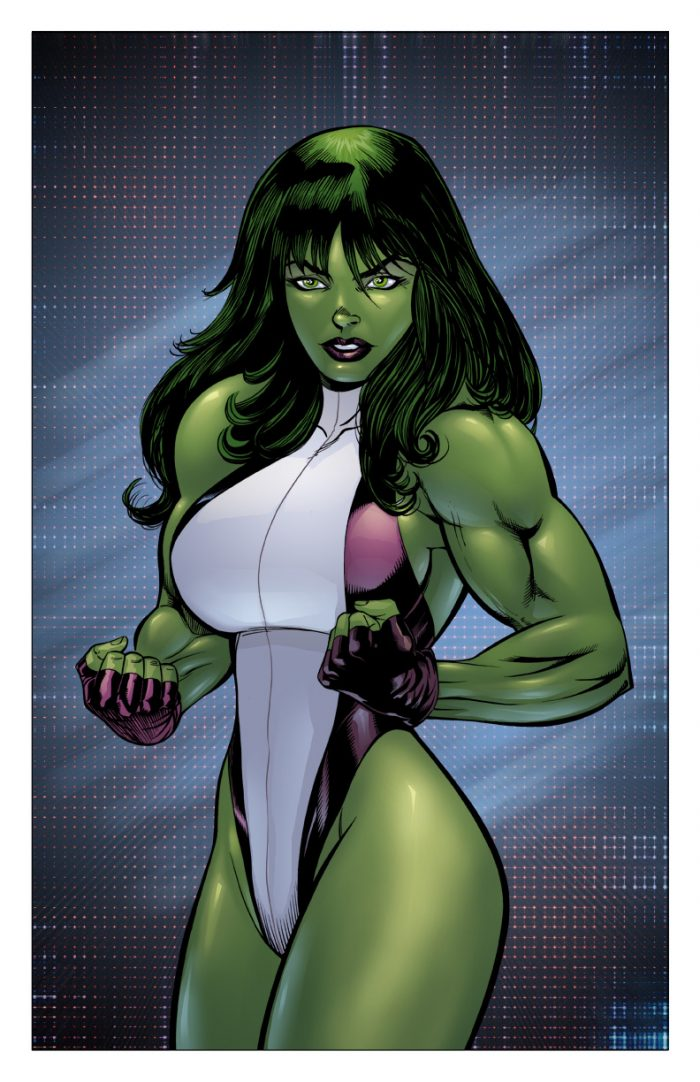 she hulk is flexing with a pose.jpg