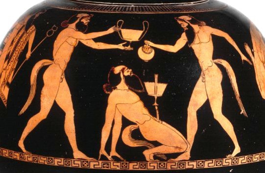 Crotch Balance Wine Bowl