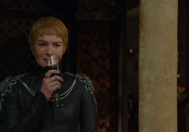 Cersei having a drink of wine.png