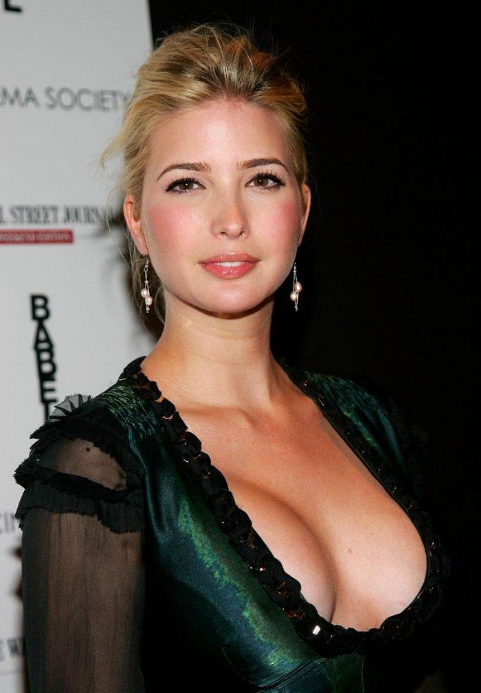 Ivanka Trump in a low cut revealing dress 700x1007 Ivanka Trump in a low cut revealing dress Sexy NeSFW Ivanka Trump