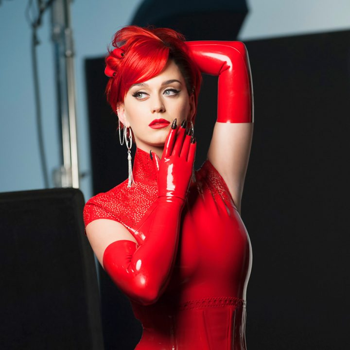 Katy Perry in red 720x720 Katy Perry in red Sexy katy perry