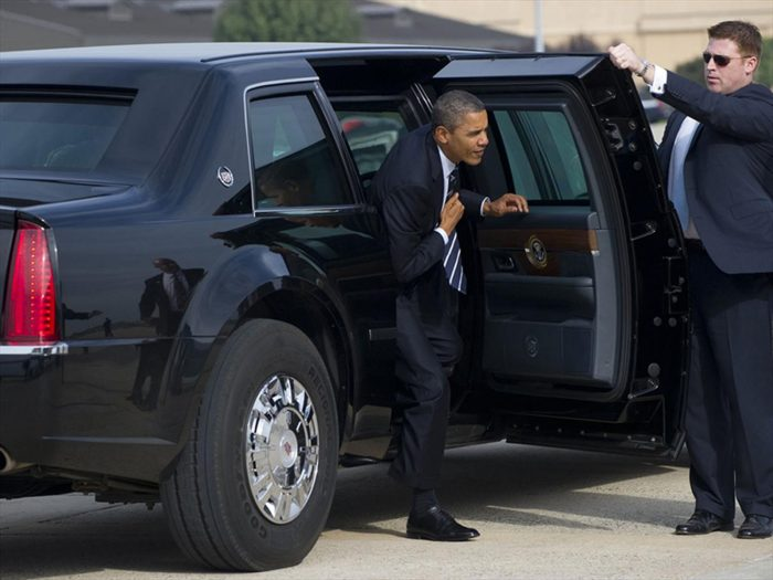 Obama has a big black door.jpg
