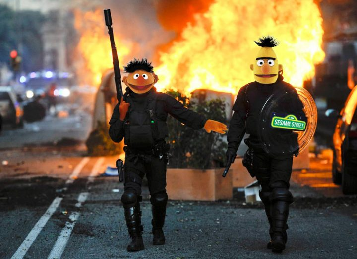 Sesame Street 720x524 SESAME STREET wtf sesame street interesting funny fire Ernie Bert awesome