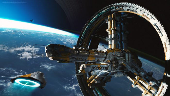 Starship 44 Beryl by Robin Boer 700x394 Starship 44 Beryl by Robin Boer Wallpaper Fantasy   Science Fiction