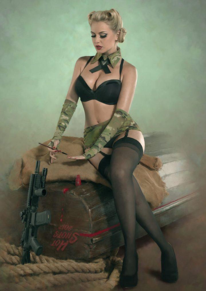 retro gunner girl 720x1018 retro gunner girl Sexy NeSFW