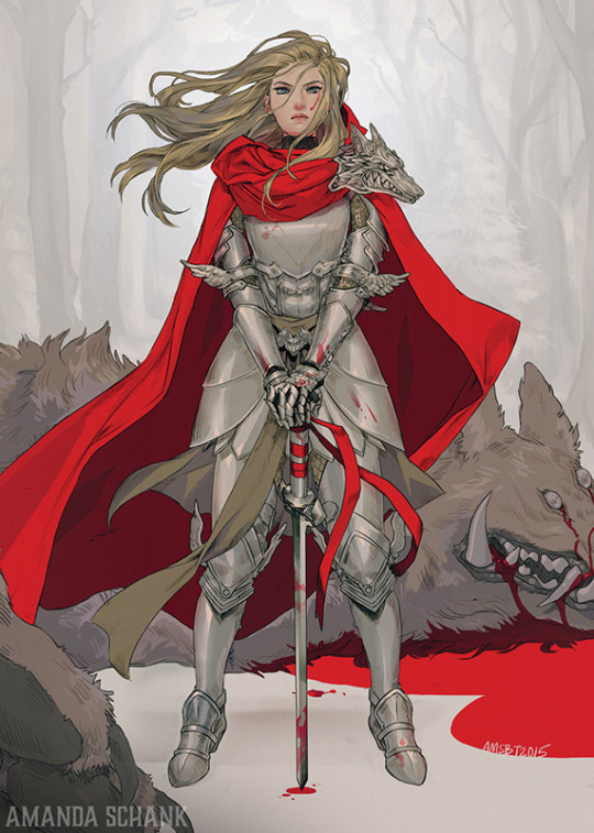 tumblr inline o2i4eg3AsY1sdzlrs 540 armored red riding hood little red riding hood Art