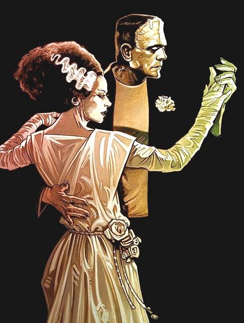 tumblr ncm05efp6T1qzcugto1 500 Dance THE BRIDE OF FRANKENSTEIN illustration Frankenstein classic horror Art