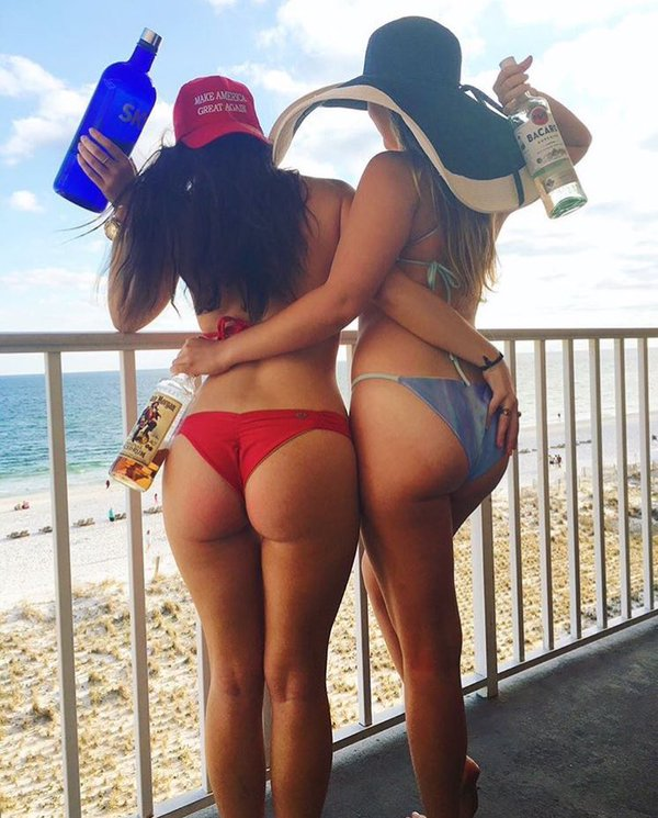 two trump girls at the beach two trump girls at the beach Sexy NeSFW MAGA election 2016 donald trump