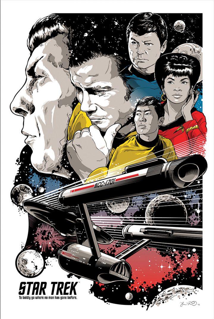 9718fcafa9d54ed348cb058185613e0de4fb9aa5 720x1071 Star Trek Art star trek illustration Art 50th Anniverary