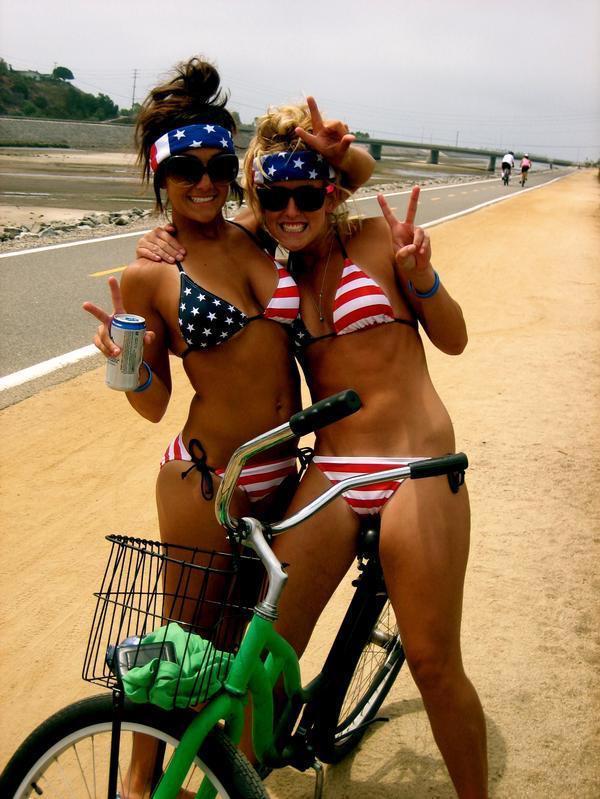 American Bikini Bikers American Bikini Bikers Sexy NeSFW Fourth Of July fashion