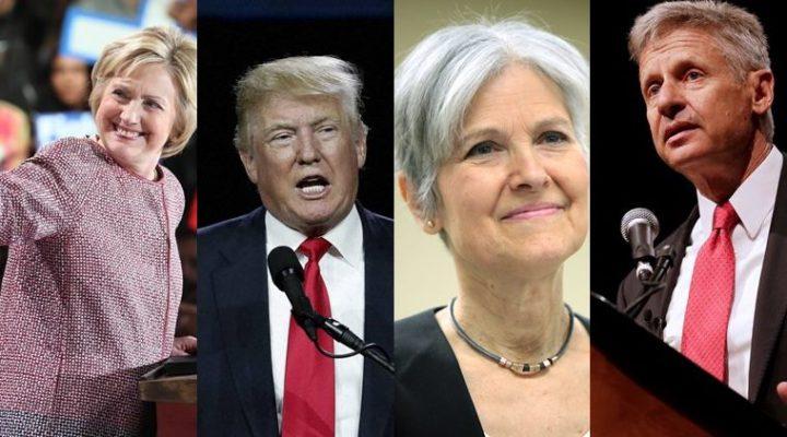 Hilary Clinton Donald Trump Jill Stein and Gary Johnson 720x400 Hilary Clinton, Donald Trump, Jill Stein and Gary Johnson