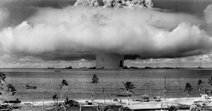 Nuclear bomb test at Bikini Atoll – 1946