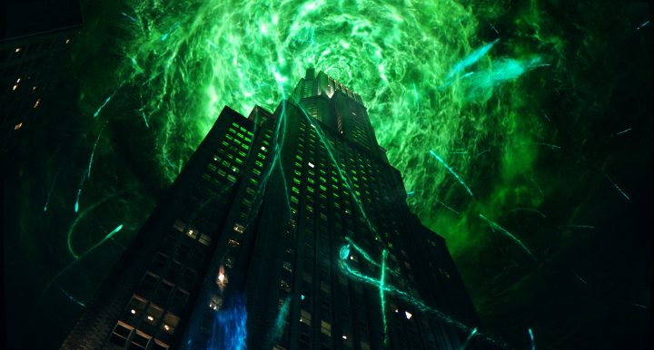 The New Ghostbusters blowing up a green building 720x386 The New Ghostbusters blowing up a green building Wallpaper Movies ghostbusters
