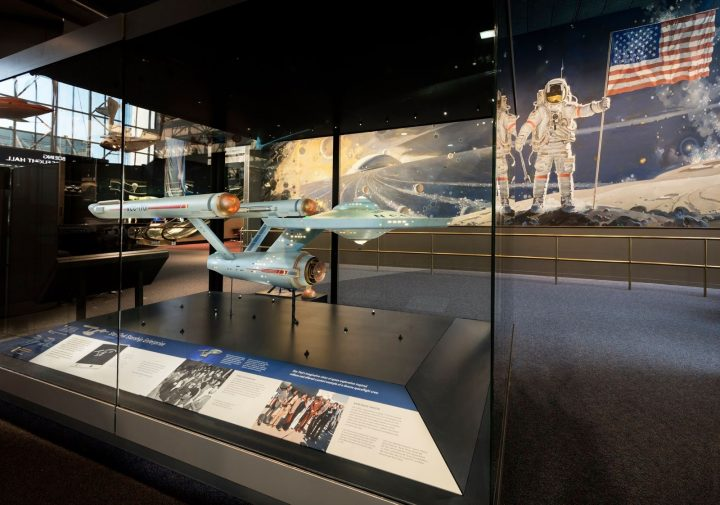 USS Enterprise studio model Smithsonian Institution National Air and Space Museum display