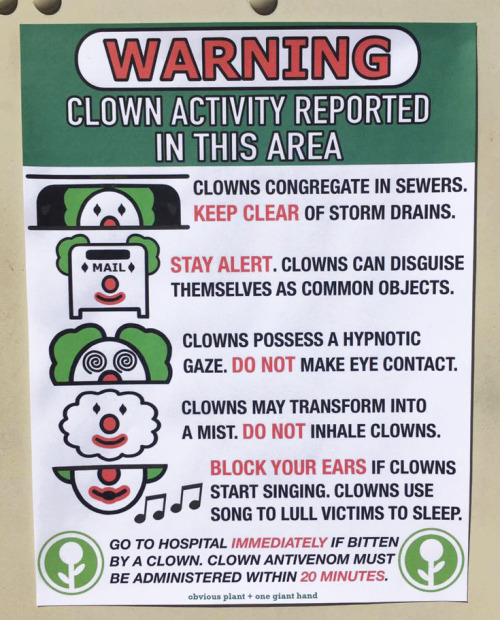 WARNING - Clown Activity Reported in this area.jpg