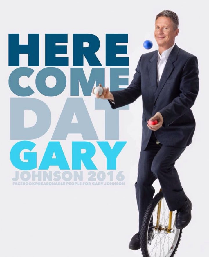 here come dat gary 720x882 here come dat gary Humor Gary Johnson election 2016