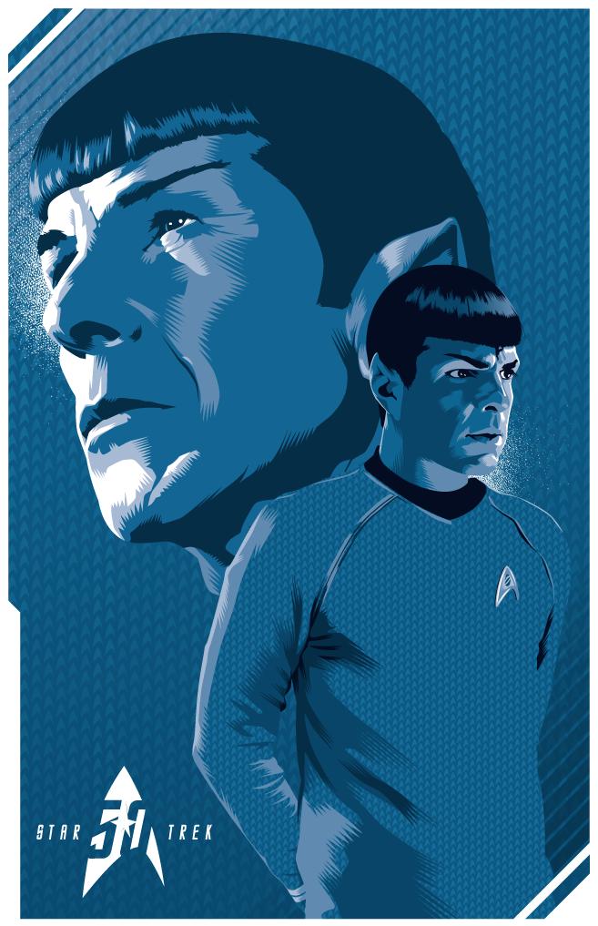ke5amnbv5xnnivj0dogn Star Trek Art star trek illustration Art 50th Anniverary