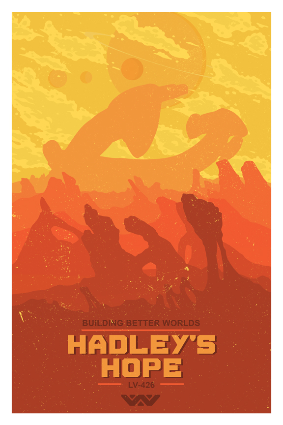 tumblr n5zt2t0HZs1r4vw0lo1 1280 Hadleys Hope poster Hadleys Hope design Art aliens