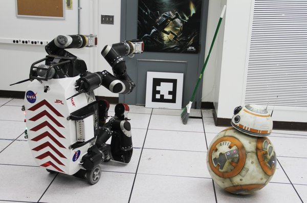 tumblr o3uovlJCV91sc7xgoo3 1280 BB 8 visiting NASA's Jet Propulsion Laboratory star wars NASA JPL bb 8