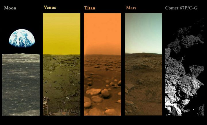 All The Planets that have had photos from their surfaces