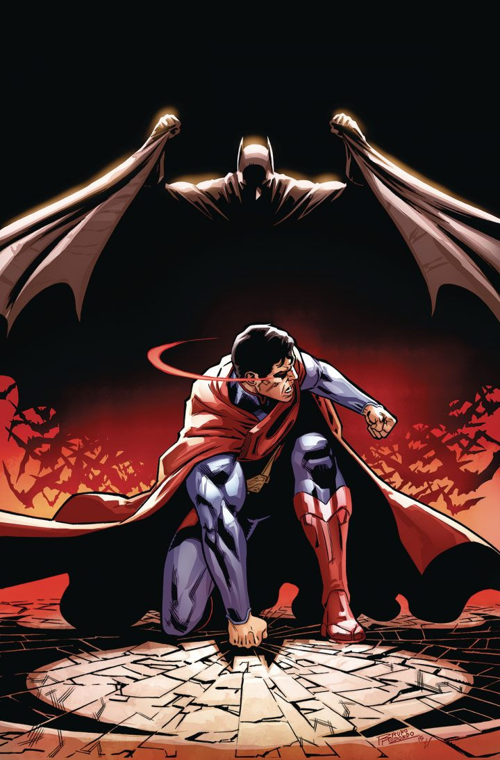 Batman jumping on Superman 720x1093 Batman jumping on Superman