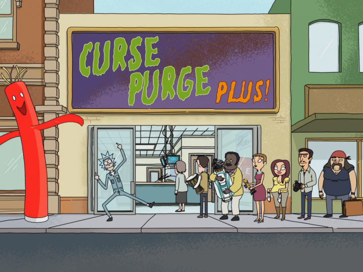 Curse Purge Plus 720x540 Curse Purge Plus Wallpaper rick and morty Humor