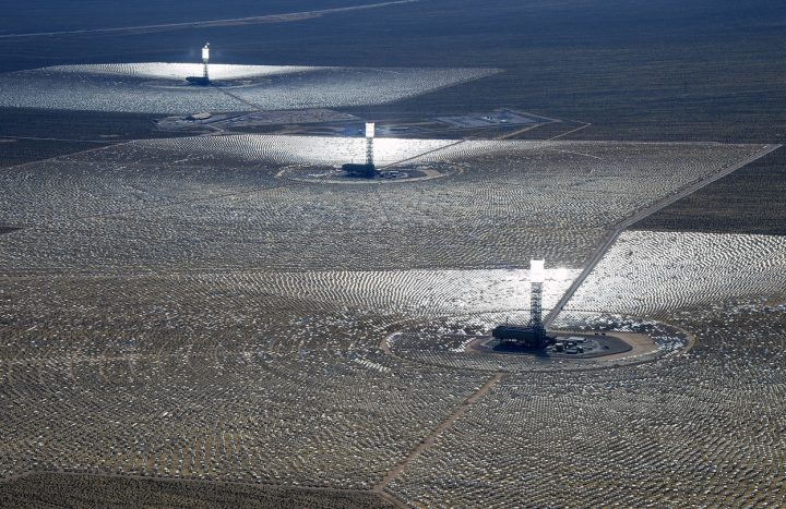 Ivanpah Solar Power Plant in the Mojave Desert
