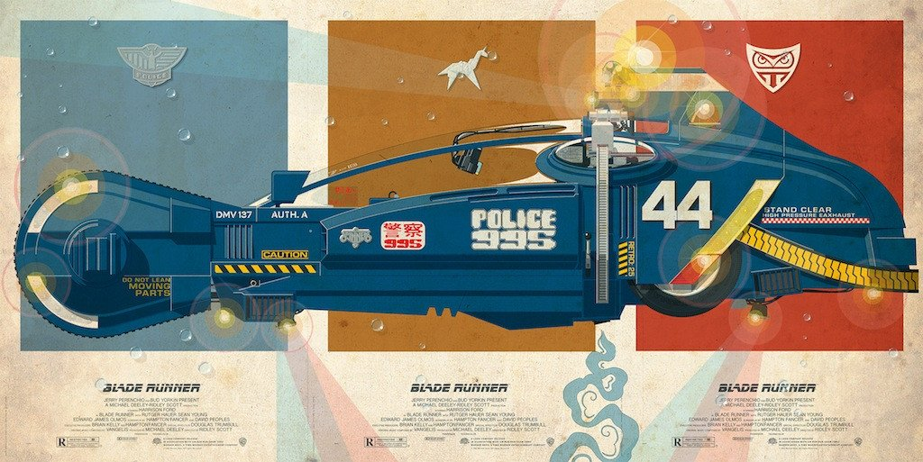 StaermoseSpinner24x36triptych copy 1024x1024 Movie Vehicles Movie Vehicles Mad Max Ghostbuesters blade runner batman back to the future